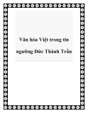 Văn hóa Việt trong tín ngưỡng Đức Thánh Trần