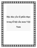 Độc đáo yếu tố phồn thực trong lễ hội cầu mưa Việt Nam