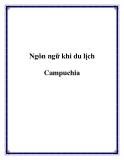 Ngôn ngữ khi du lịch Campuchia