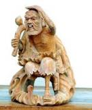 Tượng gỗ độc đáo về đề tài thiếu nhi của nhà điêu khắc Gehar