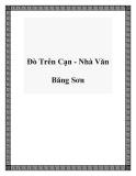 Đò Trên Cạn - Nhà Văn Băng Sơn