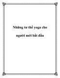 Những tư thế yoga cho người mới bắt đầu