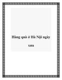 Hàng quà ở Hà Nội ngày xưa