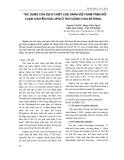 Tác dụng của dịch chiết chè xanh Việt Nam trên rối loạn chuyển hóa Lipid ở thỏ uống Cholesterol