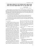 PHÉP BIỆN CHỨNG DUY VẬT PHƯƠNG PHÁP LUẬN CHUNG NHẤT CỦA HOẠT ĐỘNG NHẬN THỨC VÀ THỰC TIỄN Y HỌC