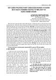 XÂY DỰNG PHƯƠNG PHÁP CHẨN ĐOÁN NHANH VI KHUẨN DỊCH HẠCH (YERSINIA PESTIS) TỪ MẪU ĐẤT VÀ NƯỚC NHIỄM KHUẨN