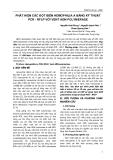 PHÁT HIỆN CÁC ĐỘT BIẾN HEMOPHILIA A BẰNG KỸ THUẬT PCR - RFLP VỚI VENT ADN POLYMERASE