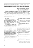 Sơ bộ nghiên cứu tác dụng hạ huyết áp của cao Trái Nhàu (Morinda citrifolia Linne) trên thực nghiệm