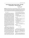 NGUYÊN NHÂN VÀ MỘT SỐ YẾU TỐ ẢNH HƯỞNG ĐẾN TỪ VONG MẸ TẠI 7 TỈNH VIỆT NAM