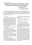 Nghiên cứu độc tính bán trường diễn của thổ phục linh (Smilax Glabra Roxb, Liliaceae) trên thỏ
