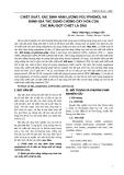 CHIẾT XUẤT, XÁC ĐỊNH HÀM LƯỢNG POLYPHENOL VÀ ĐÁNH GIÁ TÁC DỤNG CHỐNG OXY HOÁ CỦA CÁC MẪU BỘT CHIẾT LÁ DÂU