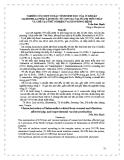 """Báo cáo """" NGHIÊN CỨU MỘT SỐ ĐẶC TÍNH SINH HỌC CỦA VI KHUẨN SALMONELLA PHÂN LẬP ĐƢỢC TỪ LỢN SAU CAI SỮA BỊ TIÊU CHẢY VÀ CHẾ TẠO THỬ NGHIỆM VACXIN PHÒNG BỆNH """""""
