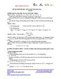 Đề thi thử Đại học môn Toán khối A năm 2013 - Đề số 1