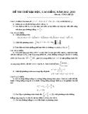 Đề thi thử Đại học môn Toán khối A năm 2013 - Đề số 28