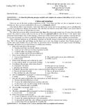 Đề thi thử đại học năm học 2012- 2013 Môn: Tiếng Anh Trường THPT Lý Thái Tổ