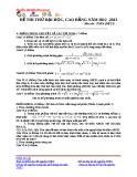 Đề thi thử Đại học môn Toán năm 2013 - Đề số 23