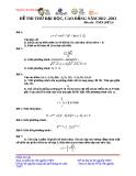 Đề thi thử Đại học môn Toán năm 2013 - Đề số 25