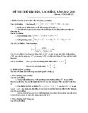 Đề thi thử Đại học môn Toán khối A năm 2013 - Đề số 27