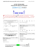 Luyện thi đại học - chuyên đề: khảo sát hàm số