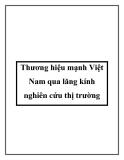 Thương hiệu mạnh Việt Nam qua lăng kính nghiên cứu thị trường