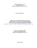"""LUẬN VĂN TỐT NGHIỆP """"  KHẢO SÁT MẬT ĐỘ VI KHUẨN TỔNG CỘNG TRONG NƯỚC VÀ VI KHUẨN COLIFORMS TRONG CƠ CÁ TRA (Pangasianodon hypophthalmus) NUÔI AO"""""""