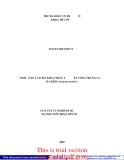 """LUẬN VĂN TỔT NGHIỆP: """" ẢNH HƯỞNG CỦA ĐỘ MẶN KHÁC NHAU L ÊN TĂNG TRƯỞNG CỦA BA KHÍA (Sesarma mederi)"""""""