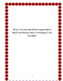 """Đề tài: """"Vụ tranh chấp đất đai trong gia đình bà Nguyễn Thu Phương ở thôn 7a Yên Quang, Ý Yên, Nam Định"""""""