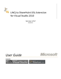 LINQ to SharePoint DSL Extension for Visual Studio 2010