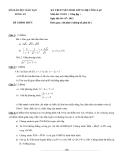 Đề thi tuyển sinh lớp 10 năm 2012 công lập môn toán đề 1