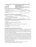 Đề thi tuyển sinh vào lớp 10 môn Tiếng Anh năm 2012 - Sở GD&ĐT An Giang
