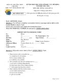 Đề thi học sinh giỏi khu vực Bắc Bộ lớp 10 năm 2012