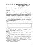 Đề thi HSG môn Sinh lớp 12 - Sở GD&ĐT Long An