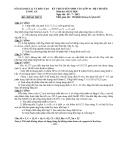 Đề thi tuyển sinh lớp 10 năm 2012-2013 Tinh Long An chuyên hóa đề 2