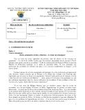 Đề thi HSG khu vực Bắc Bộ năm 2012 Môn Tiếng Pháp 10