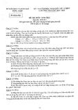 Đề thi HSG  lớp 12 năm 2013 - Sở GD&ĐT Đồng Tháp