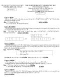 Đề thi học kì 1 môn Hóa nâng cao năm 2013 trường Chu Văn An