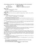 Đề thi tuyển sinh lớp 10 năm 2012-2013 Tinh Long An chuyên hóa