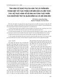 Tình hình sử dụng phụ gia hàn the và phẩm mầu trong một số thực phẩm chế biến sẵn và kiến thức thái độ thực hành về vệ sinh an toàn thực phẩm của người nội trợ tại quận Đống Đa Hà Nội năm 2003