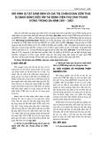 MÔ HÌNH DỊ TẬT BẨM SINH VÀ GIÁ TRỊ CHẨN ĐOÁN SỚM THAI DỊ DẠNG BẰNG SIÊU ÂM TẠI BỆNH VIỆN PHỤ SẢN TRUNG ƯƠNG TRONG BA NĂM 2001 - 2003