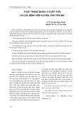 Thực trạng quản lý chất thải tại các bệnh viện huyện, tỉnh Yên Bái