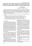 NGHIÊN CỨU THỰC TRẠNG CHĂM SỨC SỨC KHOẺ SINH SẢN VÀ KẾ HOẠCH HOÁ GIA SẢNH CỦA DÂN TỘC CHĂM TẠI NINH THUẬN