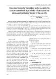 Tình hình tái nhiễm trên bệnh nhân sau điều trị sán lá gan nhỏ và một số yếu tố liên quan tại xã Khánh Thượng huyện Ba Vì tỉnh Hà Tây