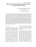 Định loại sán lá gan lớn (giống Fasciola) ở ng-ời và gia súc bằng chỉ thị ADN