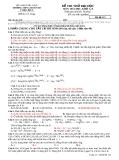 ĐỀ THI THỬ ĐẠI HỌC MÔN: HÓA HỌC, KHỐI A, B - TRƯỜNG THPT CHUYÊN BN TTĐH LẦN II - Mã đề 123