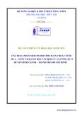 ĐỀ TÀI NGHIÊN CỨU KHOA HỌC SINH VIÊN ỨNG DỤNG PHẦN MỀM SWMM TÍNH TOÁN THOÁT NƯỚC MƯA – NƯỚC THẢI CHO KHU TÁI ĐỊNH CƯ XÃ VĨNH LỘC B HUYỆN BÌNH CHÁNH – THÀNH PHỐ HỒ CHÍ MINH