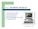 Bài giảng Chương 3 HỆ THÔNG TIN ĐỊA LÝ