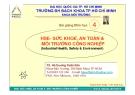 HSE - SỨC KHỎE, AN TOÀN & MÔI TRƯỜNG CÔNG NGHIỆP - CHƯƠNG 4