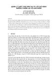 Báo cáo: Quản lý chất thải rắn tại tp. Hồ Chí Minh những thuận lợi và khó khăn