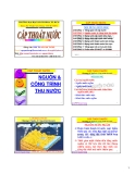 Cấp thoát nước - Chương 2 Nguồn nước & công trình thu nước