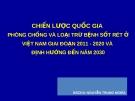 CHIẾN LƯỢC QUỐC GIA  PHÒNG CHỐNG VÀ LOẠI TRỪ BỆNH SỐT RÉT Ở VIỆT NAM GIAI ĐOẠN 2011 - 2020 VÀ  ĐỊNH HƯỚNG ĐẾN NĂM 2030